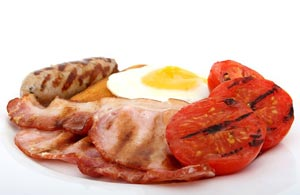 Fettige Lebensmittel enthalten viele Kalorien